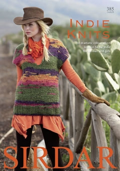1 Sirdar Indie Knits Knitting Book 385 REDUCED 1