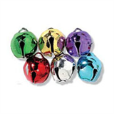 12mm COLOURED Jingle Bells 6 pcs Sew On