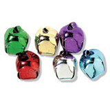15mm COLOURED Jingle Bells 6 pcs Sew On