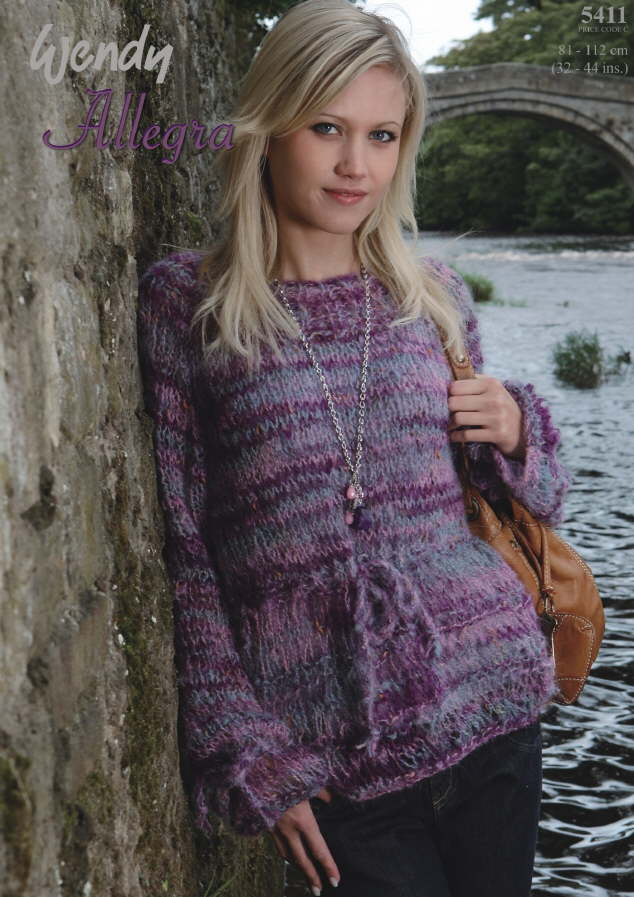 Allegra Round Neck Sweater Knitting Pattern 5411