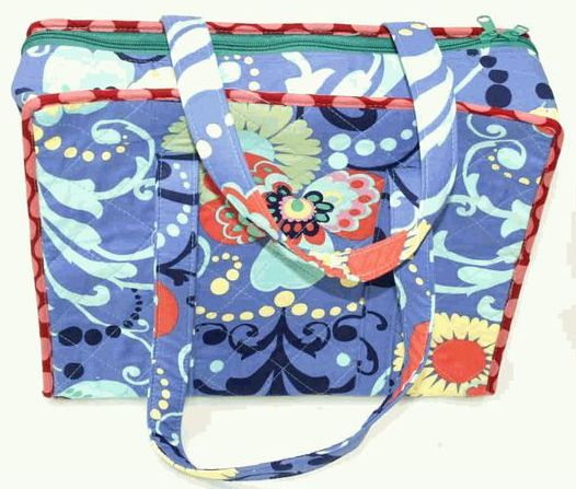 Amy Butler Fabric Knitting Accessories Bag PERIWINKLE