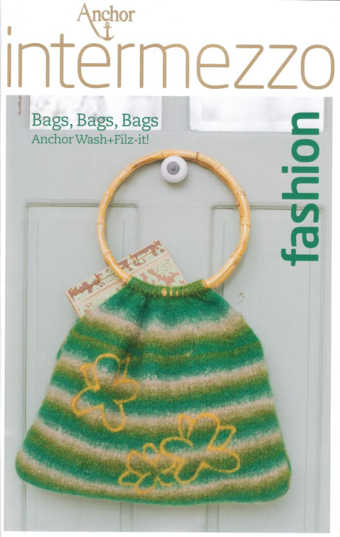 Knitting Pattern For Book Bag : Anchor Felted Bags Bags Bags Crochet & Knitting Pattern Book