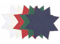 Anchor Home - Fabric Shapes for Patchwork Crochet STAR Deep Red 044 REDUCED