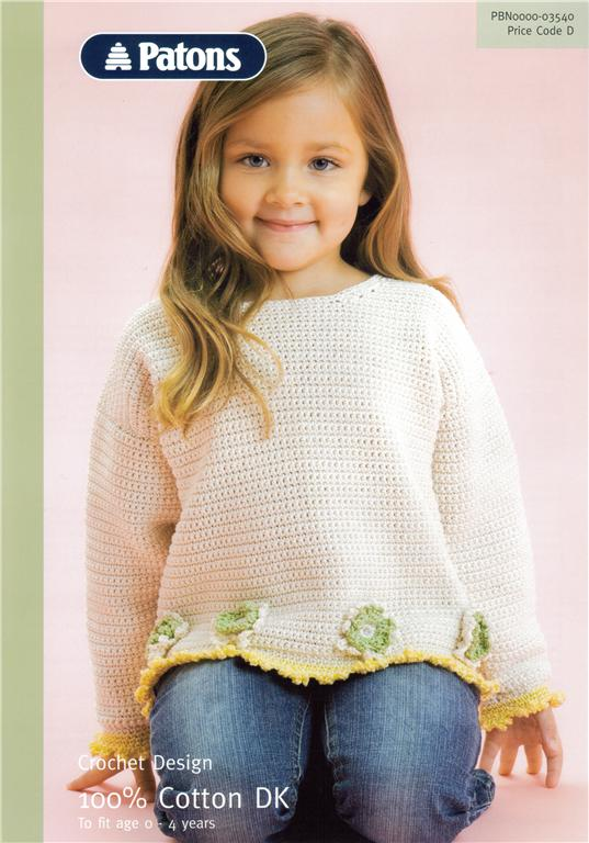 Patons Free Crochet Patterns Babies : Baby Sweater Crochet Pattern 3540 Patons DK