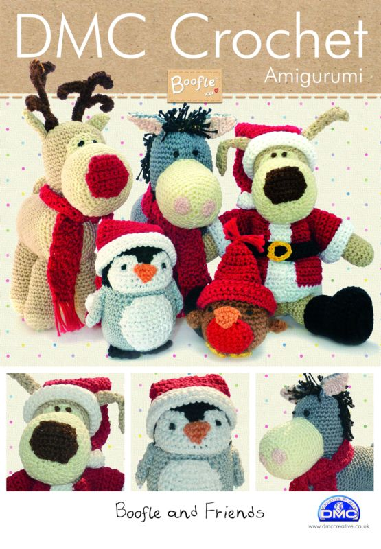 Boofle Knitting Pattern : BOOFLE and Friends Christmas DMC Crochet Pattern Booklet 14941L 2