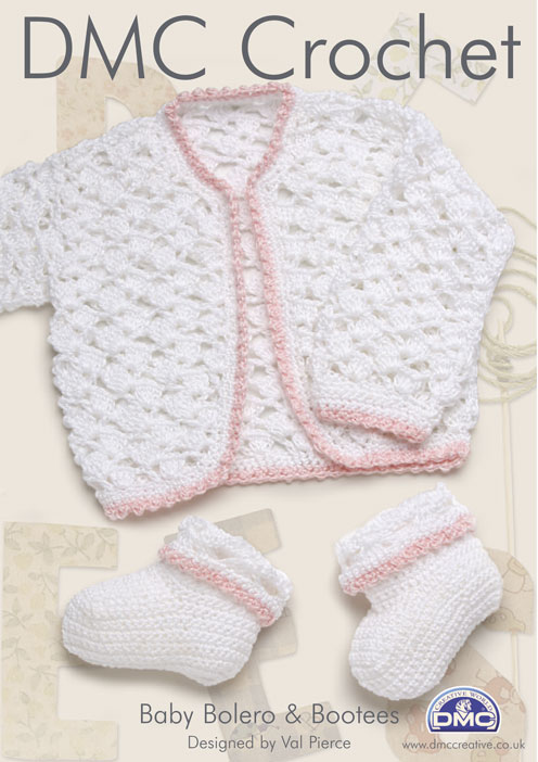 DMC Baby Bolero and Bootees Crochet Pattern 15009L 2