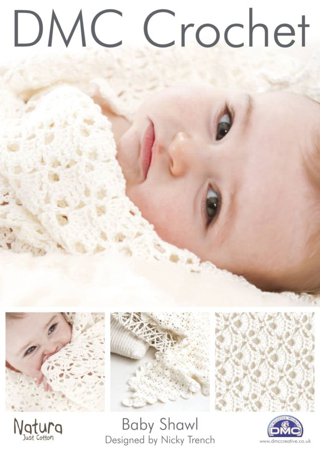 Crochet Patterns For Shawls For Babies : DMC Baby Shawl Crochet Pattern 14892L 2