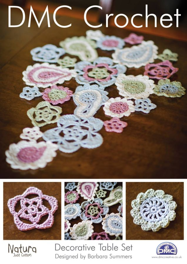 Decorative Crochet : DMC Decorative Table Set Crochet Pattern 14895L 2