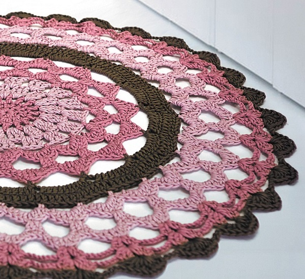 Xl Purple Rug: DMC Natura XL Circular Rug Crochet KIT