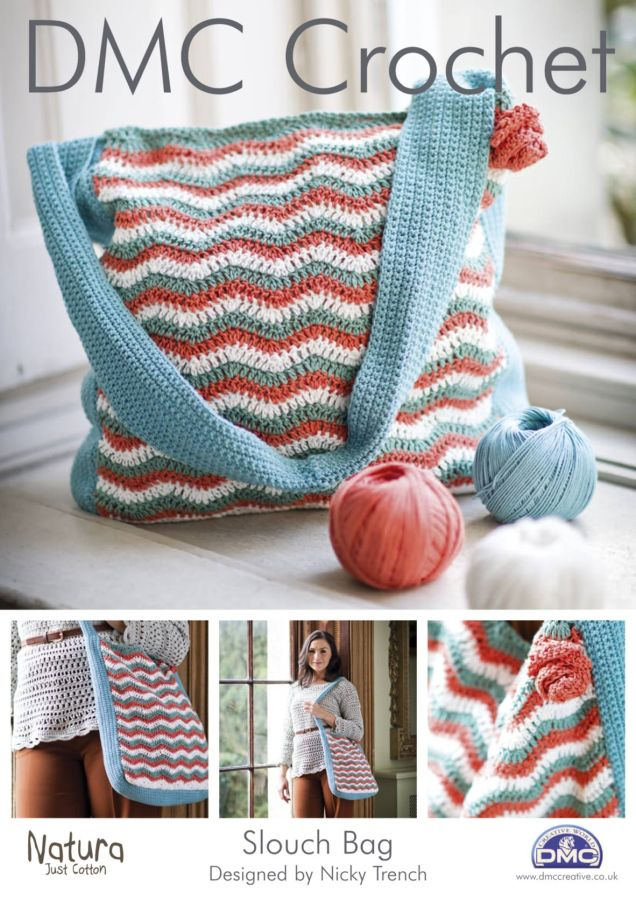 Free Crochet Bag Patterns To Download : DMC Slouch Bag Crochet Pattern FREE DOWNLOAD