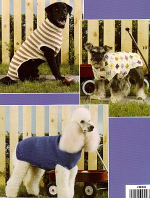 Knitting Pattern Books For Dogs : Dog Sweaters to Knit & Crochet Book 934