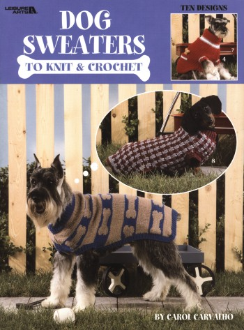 Knitting Patterns For Dogs Book : Dog Sweaters to Knit & Crochet Book 934