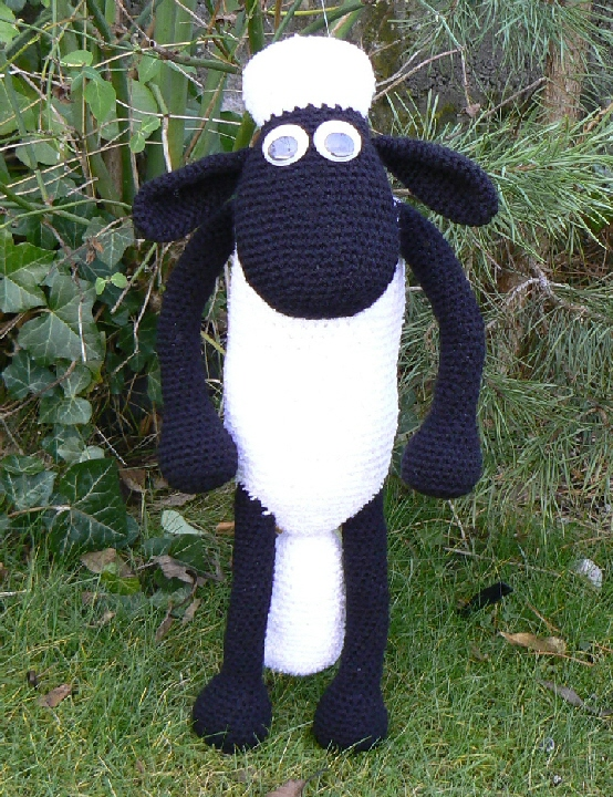 Pattern For Knitted Baby Hats : FREE PATTERN Shaun the Sheep Crochet Pattern