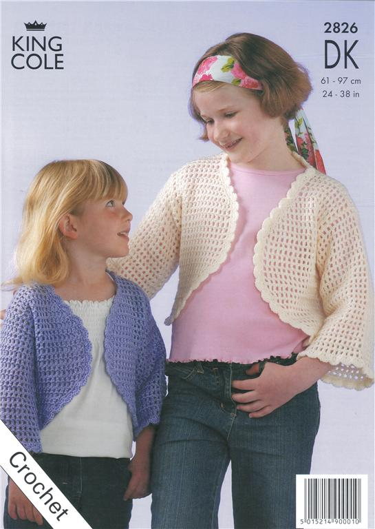 Crochet Patterns King Cole : Pics Photos - Bolero Knit Pattern King Cole 3111 Short Sleeved ...