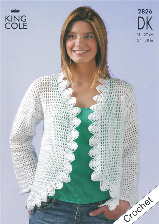 Free Crochet Pattern Bolero Jacket : Pics Photos - Bolero Knit Pattern King Cole 3111 Short ...