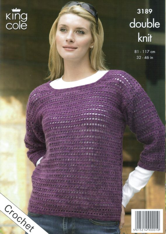 Crochet Patterns King Cole : King Cole DK Tunic, Shoulder Bag & Wrapover Cardigan Crochet Pattern ...