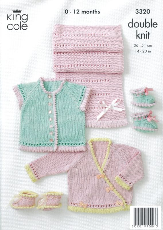 Knitting Patterns For King Cole Bamboo Cotton : King Cole GIRLS OWN Baby Bamboo Cotton DK Knitting Pattern 3320
