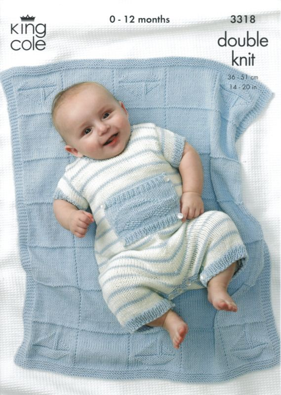 King Cole Little Boy Blue Baby Bamboo Cotton Dk Knitting