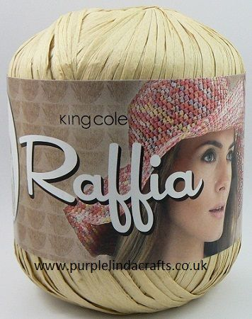 King Cole Raffia Yarn 1456 Natural
