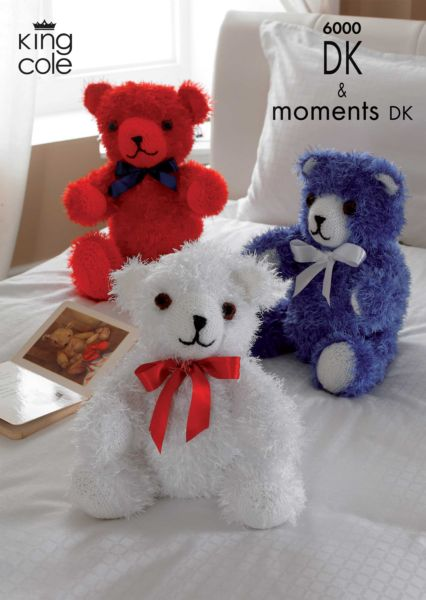 King Cole Teddy Bear Knitting Pattern : King Cole Three BEARS Moments DK Knitting Pattern 6000