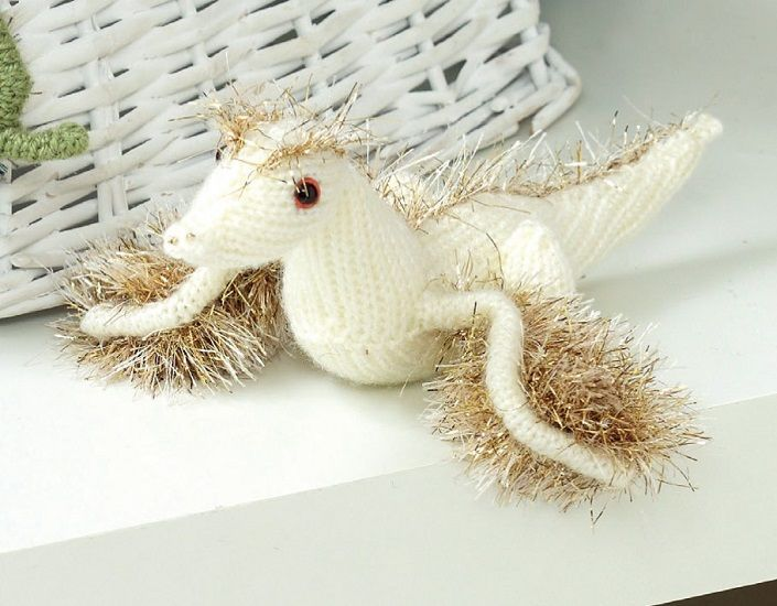 Knitting Patterns For King Cole Tinsel : King Cole Tinsel DRAGONS Knitting Pattern 9051