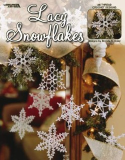 Lacy Snowflakes Crochet Pattern Book