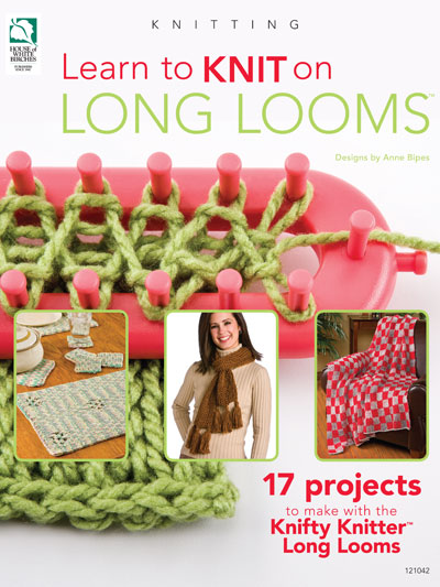 Loom Knitting Pattern Books : Learn to Knit on Long Looms Book HWB 121042 REDUCED