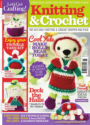 Knitting And Crochet Magazine : Lets get crafting knitting and crochet issue christmas
