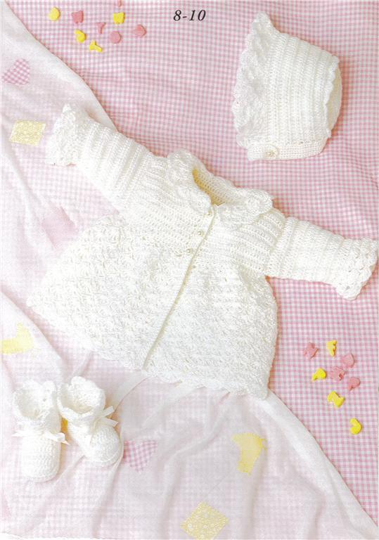 Patons Free Crochet Patterns Babies : Patons A NEW BABY Knit & Crochet pattern book 370