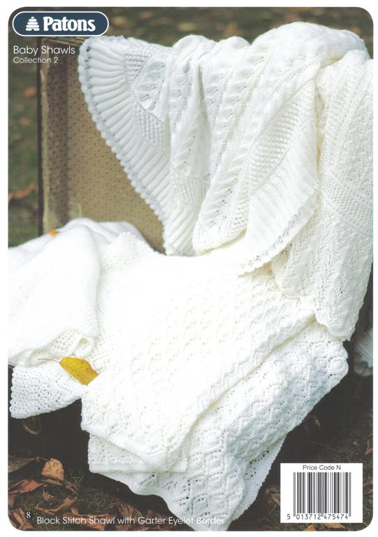 Patons Crochet Baby Shawl Patterns : Patons Baby Shawls Collection 2 Knitting Book 1004