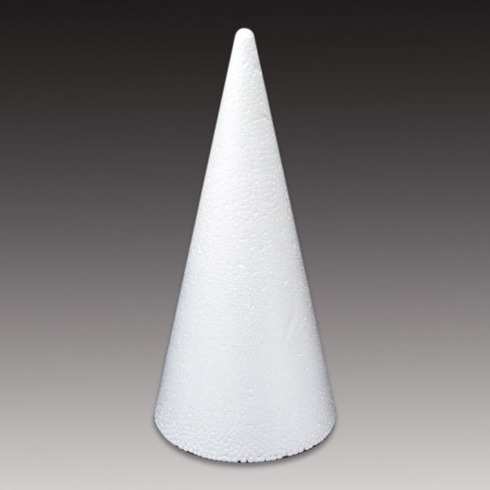 polystyrene cone solid white 26cm styrofoam. Black Bedroom Furniture Sets. Home Design Ideas