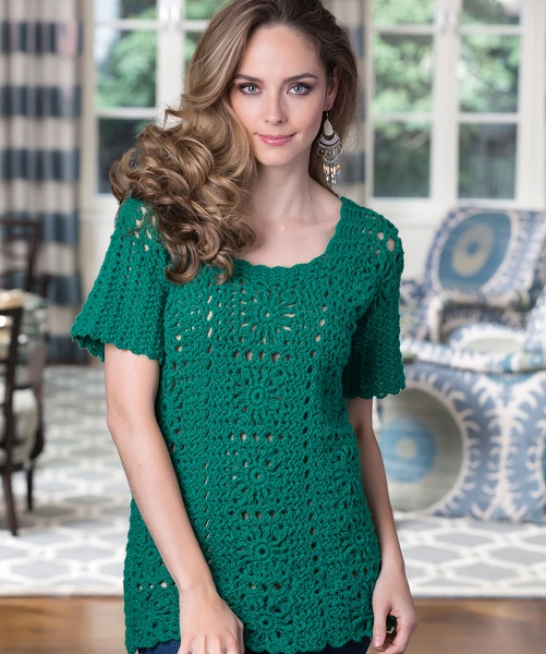 Free Crochet Pattern For Tunic Top : Red Heart Tunic Top Crochet Pattern FREE