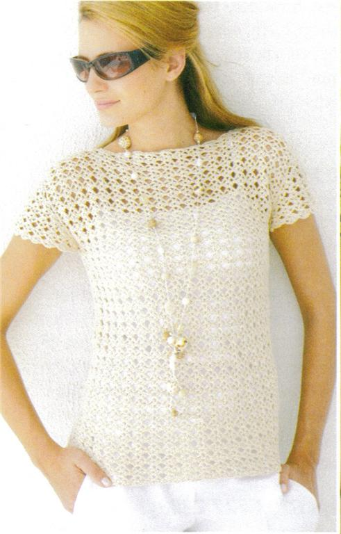 Free Crochet Patterns For Women s Shell Tops : Sirdar 4ply Ladies Top Crochet Pattern 9034 LARGE SIZES