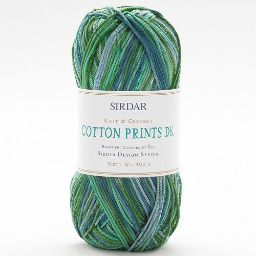 Sirdar Cotton PRINTS DK 357 Sea Glass