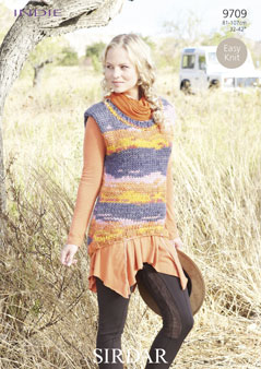 Knitting Patterns Lion Brand : Sirdar Indie Sweater Knitting Pattern 9709 DISCONTINUED 1