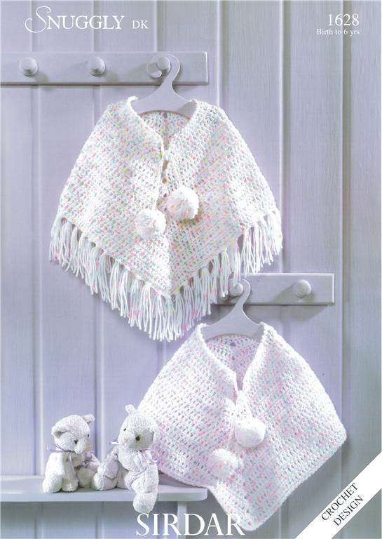 Free Crochet Children 39 s Poncho Pattern