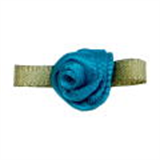 Small Ribbon Roses With Green Leaves 346 JADE