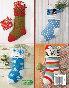 Knitted Christmas Stocking Pattern Books : The Stockings were Knit Christmas Knitting Book LA 4962