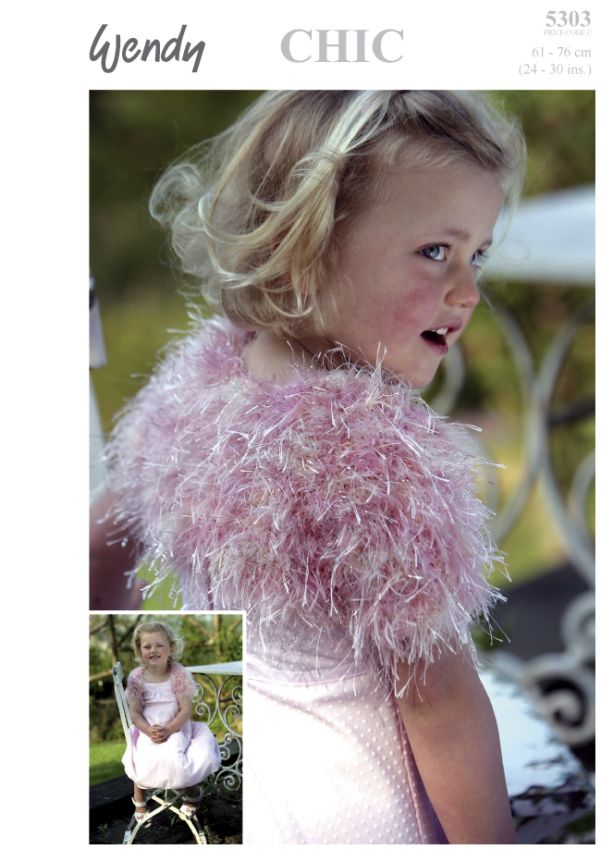 Wendy Knitting Patterns Free : Wendy Chic Child s SHRUG Knitting Pattern 5303