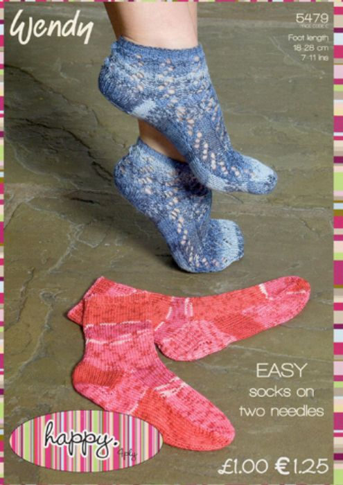 Wendy EASY Socks on Two Needles Knitting Pattern 5479