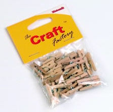 Wooden Clothes Pegs NATURAL
