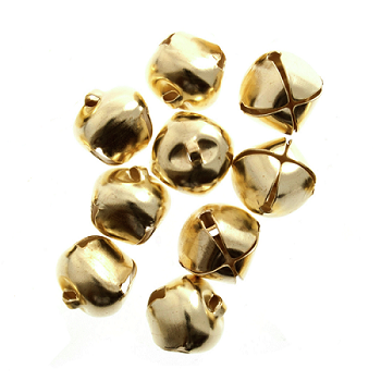 10mm GOLD Bells 9 pcs Sew On