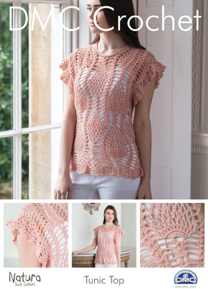 15092L/2 DMC Pineapple Tunic Top Crochet Pattern
