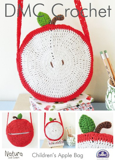 15212 DMC Childrems Apple Bag Natura Crochet Pattern £1