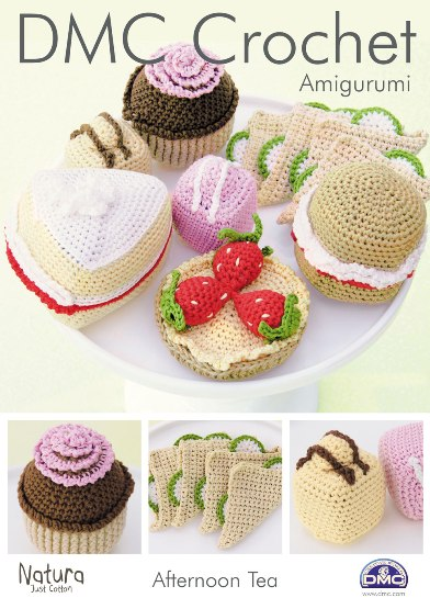 15214 DMC Amigurumi Afternoon Tea Natura Crochet Pattern