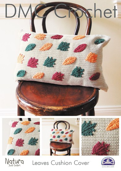 15216 DMC Leaves Cushion Cover Natura Crochet Pattern £1