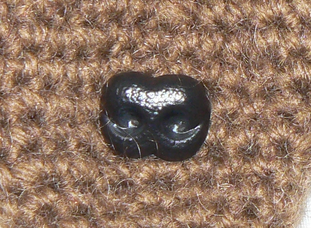 15mm BLACK Teddy/Dog Safety Nose
