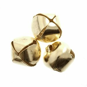 20mm GOLD Bells 3 pcs Sew On