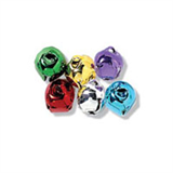 8mm COLOURED Jingle Bells 6 pcs Sew On