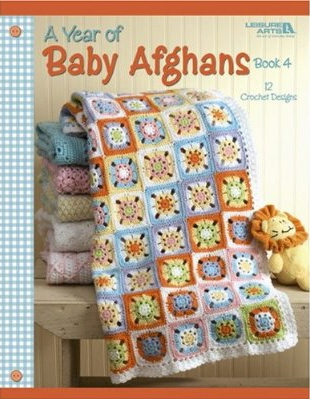 A year of Baby Afghans Crochet Pattern Book 4